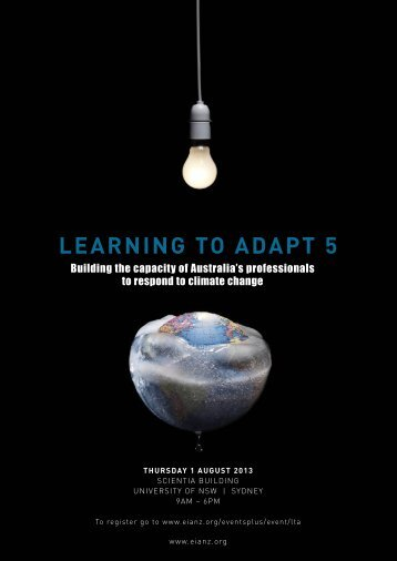 learning to adapt 5 - Environment Institute of Australia and New ...
