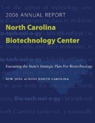 2006 - North Carolina Biotechnology Center