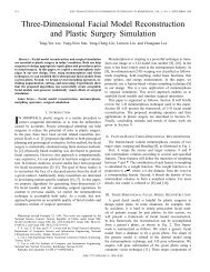 Three-dimensional facial model reconstruction and plastic surgery ...