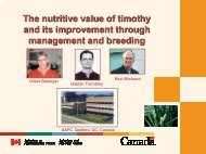 The nutritive value of timothy and its improvement through ...