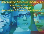 Research brochure - North Carolina Agricultural and Technical State ...