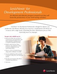 LexisNexis® for Development Professionals