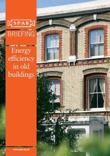 SPAB Briefing_Energy efficiency