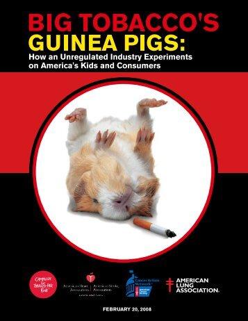 Big Tobacco's Guinea Pigs - American Academy of Pediatrics
