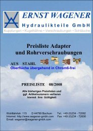 1 Deckblatt 08 2008 - Ernst Wagener Hydraulikteile GmbH