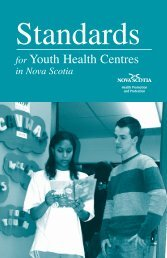 Standards for Youth Health Centres in Nova Scotia - Government of ...