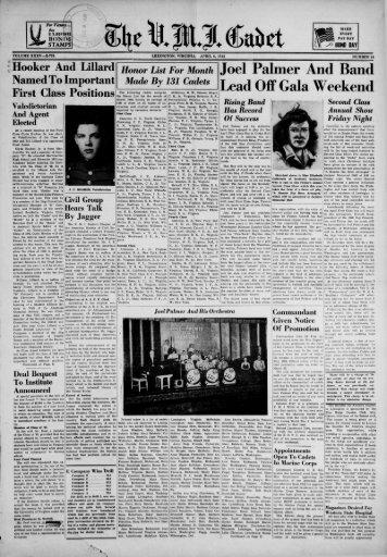The Cadet. VMI Newspaper. April 06, 1942 - New Page 1 [www2.vmi ...