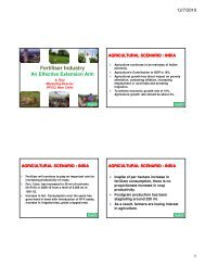 Fertiliser Industry - The Fertiliser Association Of India