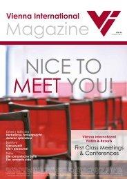 VI Magazin download (pdf) - Vienna International Hotelmanagement ...