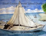 the 2012-2013 South Country School District Calendar. - Bellport.com