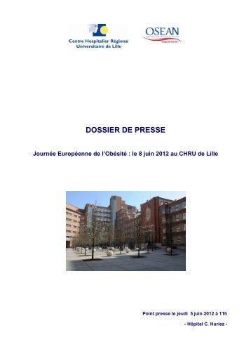 Lisez le dossier de presse - Centre Hospitalier Régional ...