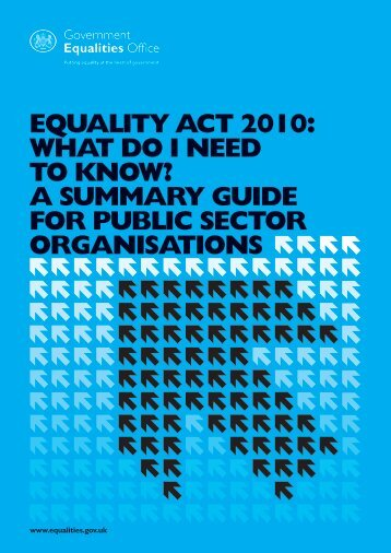 Equality Act 2010 : What do I need to know? - Gov.uk