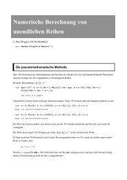 Numerische Berechnung von unendlichen Reihen - Public.fh ...