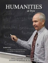 The Utilitarian Value of a Non-Utilitarian Degree - BYU Humanities