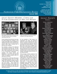 norwood park foundation review legacy society - Norwood Life Care ...