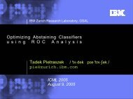 Optimizing Abstaining Classifiers using ROC Analysis