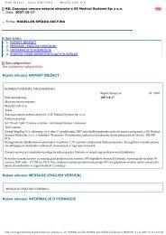 Raport bieżący nr 28/2007 - MAGELLAN