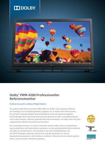 Dolby® PRM-4200 Professioneller Referenzmonitor - Video Data