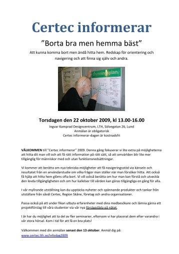 Inbjudan och program för utskrift - Certec - Lunds Tekniska Högskola