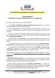 Milano, Fieramilano Rho, 19 – 22 maggio 2013 - Camera di ...