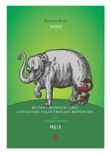 115 / 2 - VICO Wissenschaftliches Antiquariat und Verlag OHG