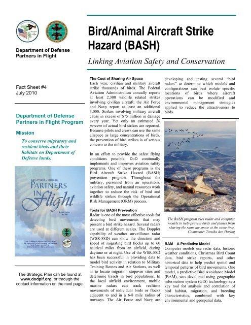 Bird/Animal Aircraft Strike Hazard (BASH) - DoD Partners in