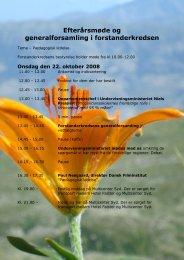 Program efterårsmødet 2008 - Forstanderkredsen