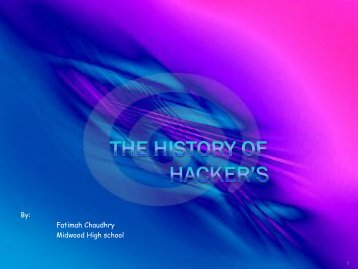 The History of Hacker's - Bridges to Computing