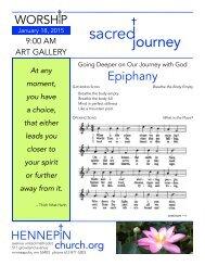 January 18 Sacred Journey Bulletin