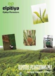 Elpitiya Plantations Plc Annual Report 2010/11 - Colombo Stock ...