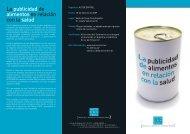 La publicidad de alimentos en relación con la salud - AutoControl