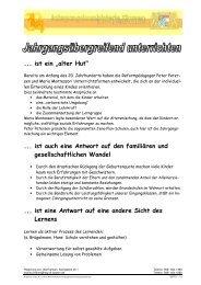 Fortbildungsinhalte - Schulen in Oberfranken