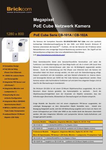 Megapixel PoE Cube Netzwerk Kamera