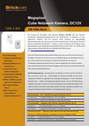 Megapixel Cube Netzwerk Kamera, DC12V