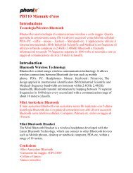 PBT10 Manuale d'uso - Phonix