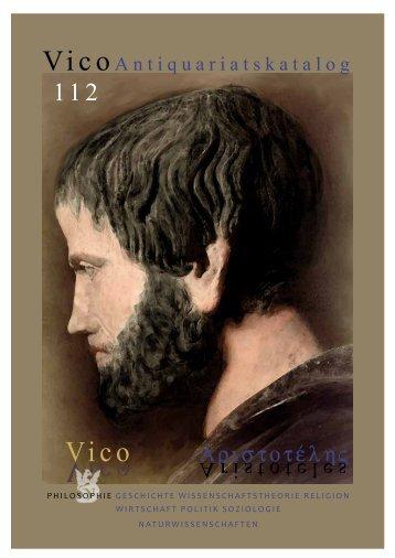 112 - VICO Wissenschaftliches Antiquariat und Verlag OHG