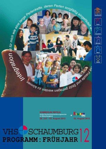 VHS Schaumburg Programm Frühjahr 2012 - Volkshochschule ...