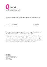 Prüfungsordnung 2010 - Hochschule für Musik, Theater und Medien ...