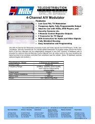4-Channel A/V Modulator - Hills Antenna & TV Systems