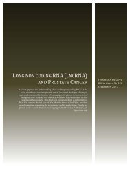long non coding rna (lncrna) and prostate cancer - Telmarc Group
