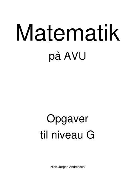 på AVU Opgaver til niveau G - VUC Aarhus