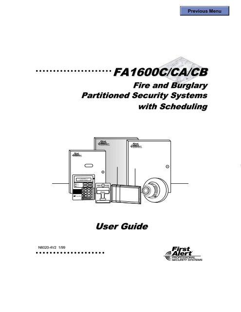 FA1600C CA CB ug - Globelink Security Systems on