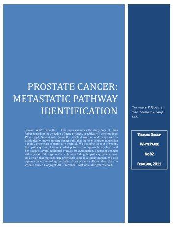 Prostate Cancer: Metastatic Pathway Identification - Telmarc Group