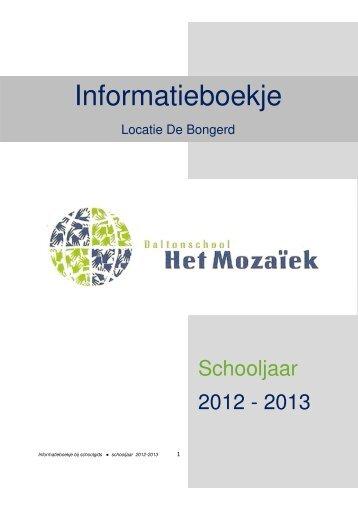 Het nieuwe informatieboekje voor schooljaar 2012-2013 downloadt ...