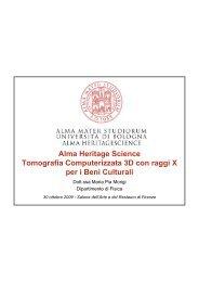 Alma Heritage Science Tomografia Computerizzata 3D con raggi X ...