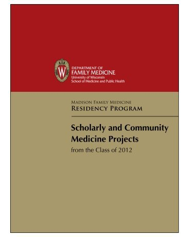 Senior Book - UW Family Medicine - University of Wisconsin-Madison
