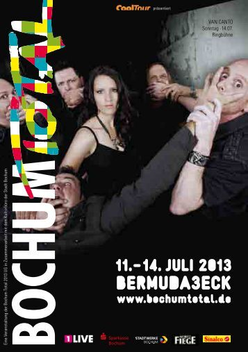 Programmheft zu Bochum Total 2013