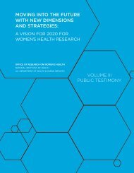 Public Testimony - Office of Research on Women's Health - National ...
