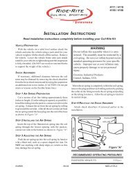INSTALLATION INSTRUCTIONS - Firestone Industrial Products