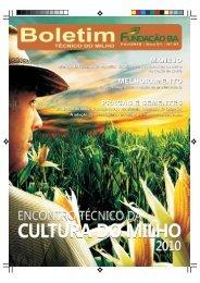 Boletim - Revista Encontro Técnico do Milho 2010 - Fundação Bahia